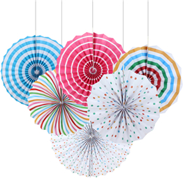 Round Paper Decoration Fan