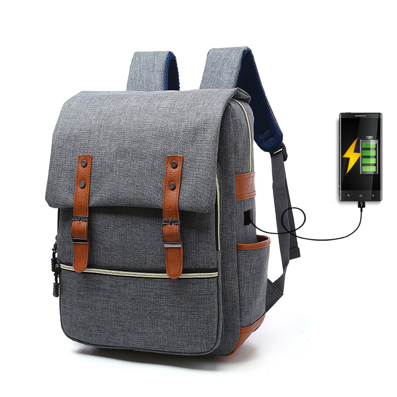 Travel Laptop Backpack Business Anti Theft Slim Durable College School Computer Bag with USB Charging Port Fits 15.6 Inch Laptop