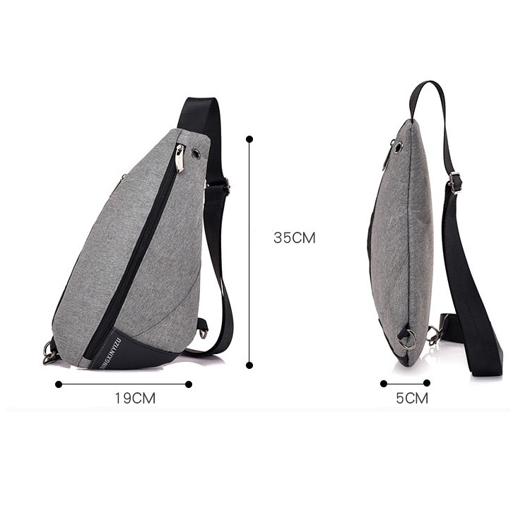 New small casual male chest pack daily adjusted strap crossbody man business sling messenger triangle shoulder bag